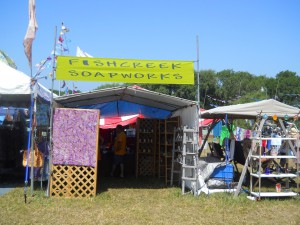Fishcreek booth at Blissfest
